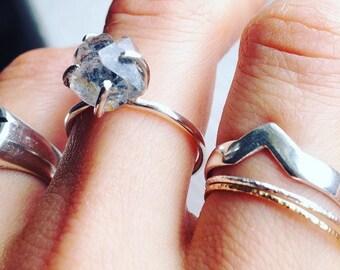 Herkimer diamond in sterling silver