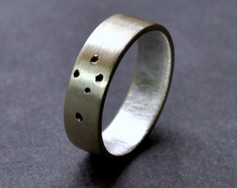 Southern Cross Ring. Sterling Silver. 5mm. Wedding Band. Wedding Ring. Matte Finish. Australia. Aussie.