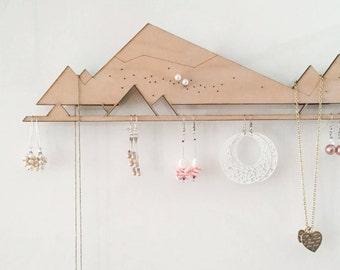 Jewelry Organizer (for Powerstrips)   Jewelry Storage   Jewelry Display   Jewellery Holder   Earring Holder   Earring rack   Necklace hanger