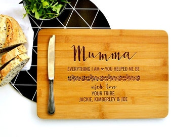 Personalised Cutting Board, Custom Cutting Board, Gift for Mum, Everything I am