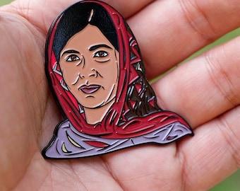 Malala Yousafzai  - soft enamel pin.  Celebrate a human rights icon!