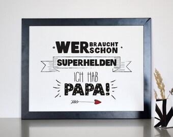 Superhelden Papa