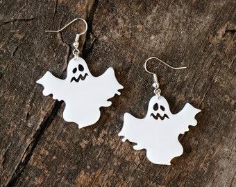 Cute Ghost Earrings // Halloween Jewelry