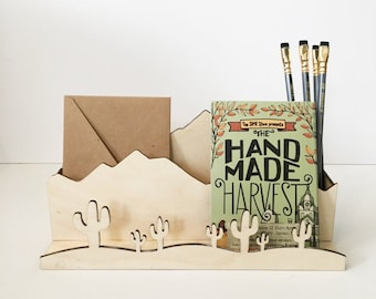 desk organizer >> desert landscape >> back to school
