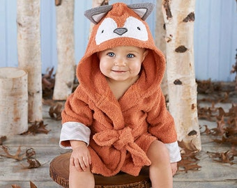 """Infant's Personalized """"Rub a Dub, Fox in the Tub"""" Hooded Spa Robe"""