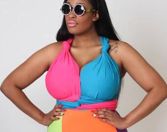 Bright Delight Convertible Swimsuit S M L 1X 2X 3X