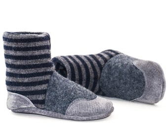 Baby Booties, Toddler Slipper Socks, Children Winter Shoes, Leather and Wool