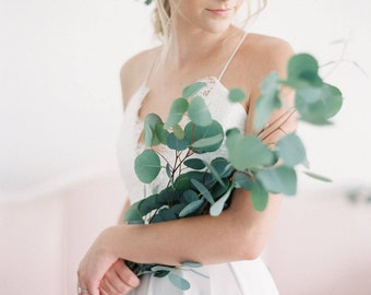 Eucalyptus Leaf Floral Comb | Greenery Bridal Comb | Greenery Crown | Leaf Comb for the etheral bohemian bride