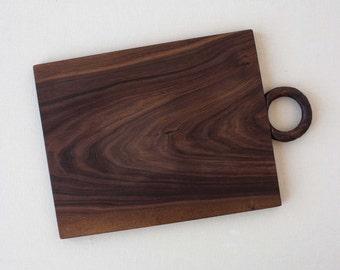 JoJo Fletcher X Etsy Walnut Serving Board with Carved Handle