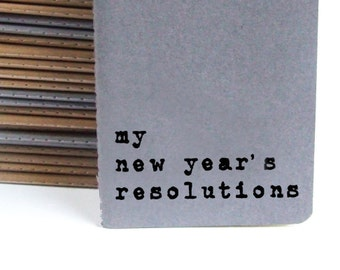 New year's resolutions notebook - MOLESKINE® Notebook with hand screen printed words 'my new year's resolutions'