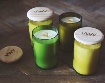Coconut + Lime Recycled Wine Bottle Candle