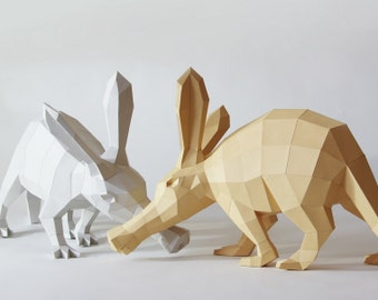 Aardvark / antbear DIY papercraft template Erwin BIG