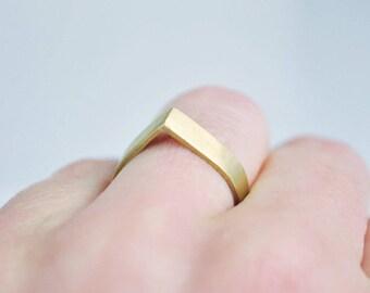 Brass ring, geometric ring, minimalist, handmade, minimalist, maralistic, minimalist jewelry