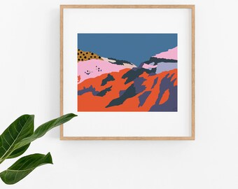 Ethiopian Ravine Artwork PosterPrintable Instant Download Print Yourself
