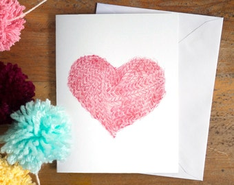 greeting card | card | holidays | christmas card | wishes | xmas | valentine | valentine card | heart | love | wool | knitting lovers | knit