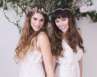 EVA - Boho Bridal Gown - Lace Wedding Dress - Simple wedding dress for modern bride
