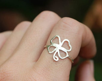 Irish Four Leaf Clover Ring