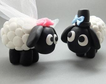 Lustige Schafe Hochzeit-Tortenfiguren