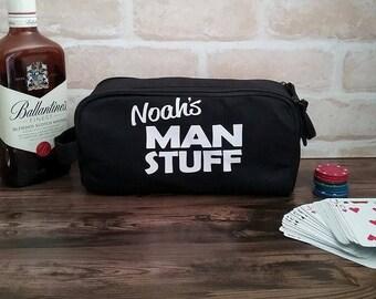 Personalised Groom Toiletry Bag; Men's Toiletry bag; toiletry bag; Personalised Bestman Gift; Groom gift; groomsmen toiletry bag, Christmas