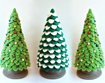 085 Crochet Pattern Christmas Tree New Year Amigurumi - by Zabelina Etsy