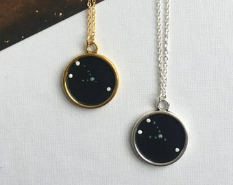 TAURUS NECKLACE. gift for her / taurus constellation / zodiac sign necklace / custom necklace / taurus pendant / taurus star sign necklace