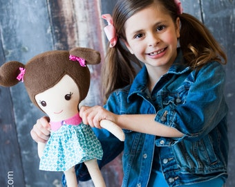 Custom Made Fabric Doll - Made to look like your child or favorite character  18 inch Doll made with Dolls and Daydreams pattern