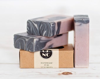 Lavender Soap with Activated Charcoal, Cocoa and Shea Butters