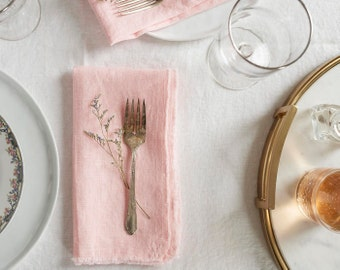 Blush napkins. Set of 2. With a rustic and simple breeze these 100% linen napkins still classic and polished. Free shipping over 50 US
