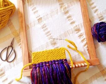 Weaving Loom Kit, Lap Loom, Weaving Loom and Tool Kit, Weaving Comb, Bonsai Scissors, Wooden Loom, Weaving Tools, Vintage Scissors