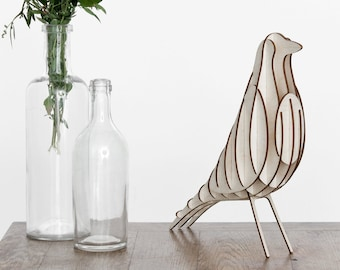 Wood Assembly Kit - Bird - Birch Wood - Deco - [H2] DIY Wood Bird