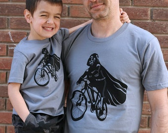 Father's day star wars gift, Darth Vader father son matching shirts, daddy and son, dad matching shirt, star wars t-shirt set, family shirts