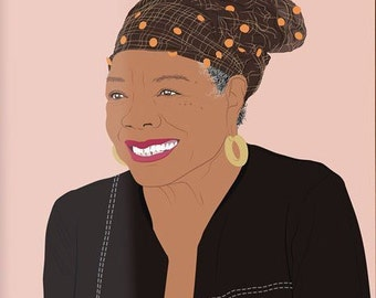 Maya Angelou Poster, Maya Angelou Print, Maya Angelou Wall Art, Maya Angelou Wall Decor, Maya Angelou Birthday, Maya Angelou Art Print
