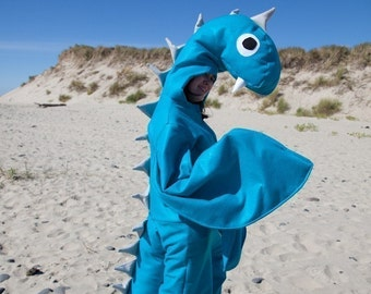Adult Loch Ness Sea Monster Halloween Nessie Costume Custom Size
