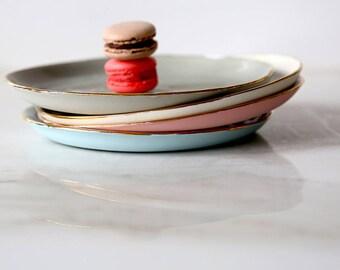 Cake Plate Ceramic Plates Decorative Plates Jewelry Dish Trinket Dish 30th Birthday Gift For Chef Dessert Plates Pottery Plates Salad Plates