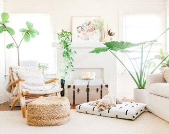 Mudcloth Dog Bed Cover | Modern dog bed