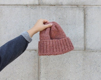 The Classic knit hat | Dusty pink