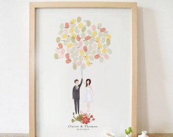 Bespoke Bride and groom portrait guestbook