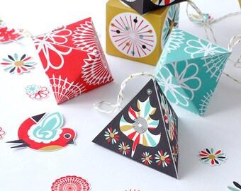 Printable Decor, Christmas Paper Ornaments, DIY Decoration, Christmas Decor, Christmas Craft Kit, Scandinavian Christmas, Printable PDF