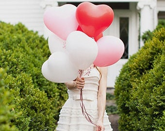 Heart Balloon, Small Heart Wedding Balloon, 11 inch 6 pack, Valentine's Day, Wedding Balloon, Wedding & Event Supplies - Photo Prop