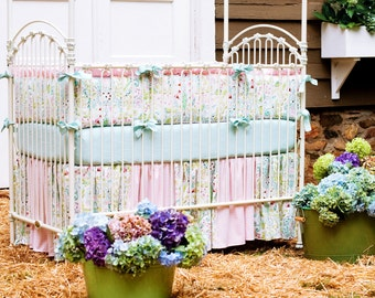 Girl Baby Crib Bedding: Love Birds 3-Piece Crib Bedding Set by Carousel Designs