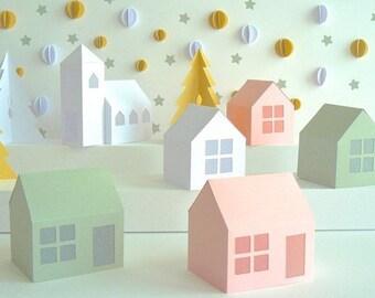 DIY Village Pop-up de Noël en papier