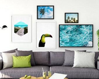 Tropical Download, Printable Tropical Wall Art, Tropcial Digital Download Botanical, Instant Download Botanical Wall Art, Plant Wall Art