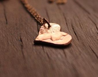 Copper Penny Heart Pendant, Penny Necklace, Recycled Penny Pendant, Australian Penny, Heart Jewelry, Copper Necklace, Rustic Heart Pendant,