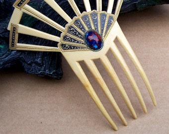 Art Deco Hair Comb Egyptian Revival French Ivory Hair Accessory Hair Jewelry Hair Ornament Headdress Headpiece Decorative Comb