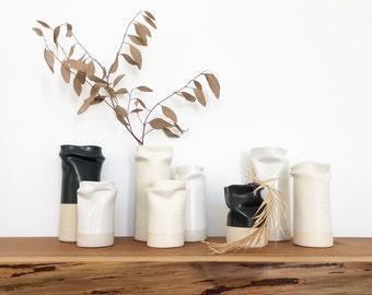 Vase - Modern, Minimalist, One of a Kind Vase, Design Award Finalist, Flower Vase, Ceramic Vase, Organic Pottery Vase, Nicole Novena