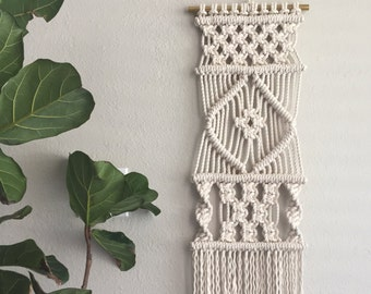 Macrame Pattern - Written PDF by Elsie Goodwin/Reform Fibers - Digital Macrame Pattern - Instant download - Name: Lean 16