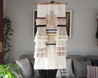 Made to order -Woven Wall Hanging, Wall Art, Weaving, Tissage, Tapestry, Art Deco