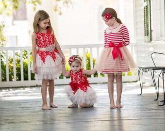 Girls Christmas dress,red christmas dress,stripe christmas dress,red christmas dress,baby Christmas dress,christmas tutu,Christmas Photos