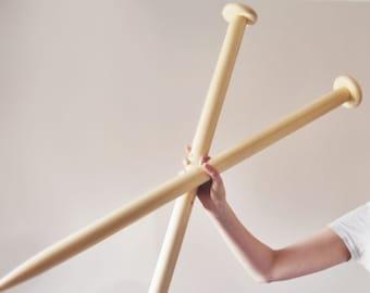 Giant knitting needles - 40mm knitting needles - chunky knitting needles - DIY chunky knit blanket - Extreme knitting needles 40 mm knitting