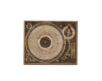 Record Player Laser Cut Lapel Pin